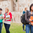 Multicultural College Students — Stock Photo