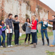 Female Student get Mobbed by the Group — Stock Photo #13093806