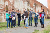Student get Mobbed by the Group — Stock Photo