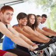 Group of Cycling at Gym — Stock Photo