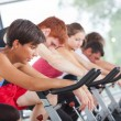 Royalty-Free Stock Photo: Group of Cycling at Gym