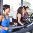 Stock Photo: Running on Treadmill in the Gym