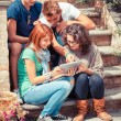 Group of Teenage Friends with Tablet PC — Stock Photo #13205414