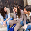 Group of Women Talking on Mobile Phone — Foto de Stock