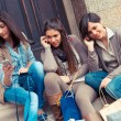 Group of Women Talking on Mobile Phone — Stock Photo #13356919