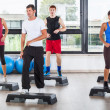 Aerobics Class in a Gym - Stock Photo
