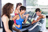 Running on Treadmill in the Gym — Stock fotografie