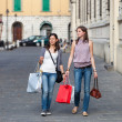 Couple of Women with Shopping Bags — Stock Photo #13660555