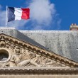 Royalty-Free Stock Photo: French Flag on an Ancient Building