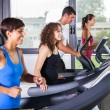 Running on Treadmill in the Gym — Stock Photo