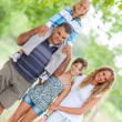Happy Three Generations Family Outdoor — Stock Photo #13822246