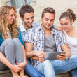 Group of Friends with Tablet PC — Stock Photo #13822521