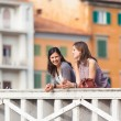 Two Women Talking in the City — Stock Photo #13855377