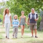 Happy Three Generations Family Outdoor — Stock Photo #13985157