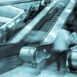Blurred on the Escalator - Stock Photo