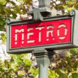 Metro Sign in Paris — Stock Photo #14034686