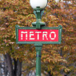 Metro Sign in Paris — Stock Photo #14034729