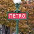 Stock Photo: Metro Sign in Paris