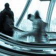 Blurred on the Escalator — Stock Photo #14037624