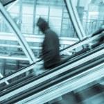 Blurred on the Escalator — Stock Photo