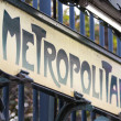 Metro Sign in Paris — Stock Photo