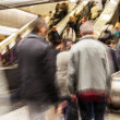 Blurred on the Escalator — Foto de Stock