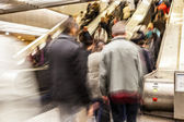 Blurred on the Escalator — Stok fotoğraf