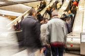 Rozmazané na eskalátoru — Stock fotografie