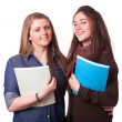 Two Female Teenage Students — Stock Photo