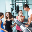Attractive Man at Gym with Three Women - Photo