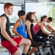 Group of Cycling at Gym - Photo