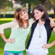 Happy Female Friends at Park — Stock Photo