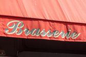 Signe de la brasserie à paris — Photo