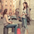 Couple of Women in the City — Foto Stock