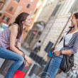 Couple of Women in the City — Stock Photo #14488719