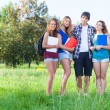Group of Teenage Students at Park — Stock Photo