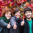 Happy Friends with Thumbs Up — Stock Photo