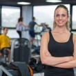 Beautiful Young Woman at Gym — Stock Photo #14888173