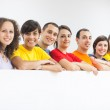 Group of Friends in a Row — Stock Photo