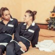 Two Tired Chamber Maids at Work — Stock Photo #15492937