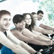 Stock Photo: Group of Cycling at Gym
