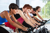 Group of Cycling at Gym — Stok fotoğraf