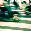 Traffic in the City, Blurred Motion — Stock Photo
