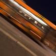 Autobus in the Night, Blurred Motion — Stock Photo