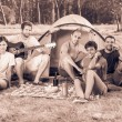 Group of Camping and Singing — Stock Photo #15800353