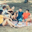 Group of Camping and Singing — Stock Photo #15800417