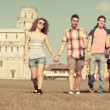 Stock Photo: Tourists in Pisa