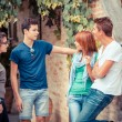 Stock Photo: Group of Teenagers Outside