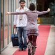Romantic Young Couple Met after Long Time - ストック写真