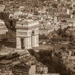 Arc de Triomphe seen from Tour Eiffel — Stock Photo #17668841